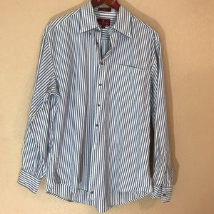Nordstrom chambray striped button down shirt 16/35